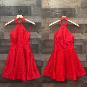 Finders Keepers Red Halter Dress